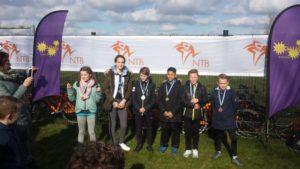 De winnaars van de Run-Bike-Run op 21 maart
